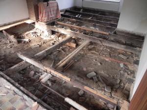 Houten vloer vervangen good houten vloer vervangen door een